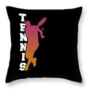 Tennis Player Ball Racket Serve Game I Love Tennis Throw Pillow