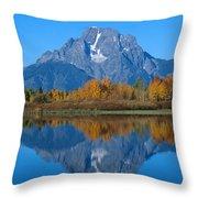 Teton Mountains Throw Pillow