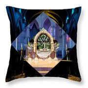 The Altar Throw Pillow by William Norton
