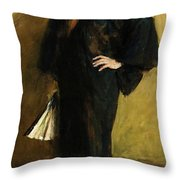 The Blue Kimono Throw Pillow