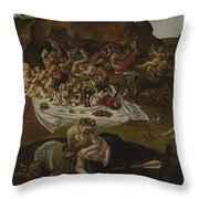 The Fight Between The Lapiths And The Centaurs  Throw Pillow