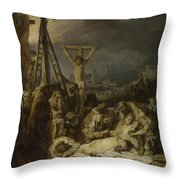 The Lamentation Over The Dead Christ  Throw Pillow