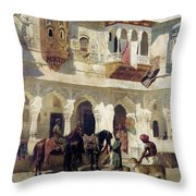 The Rajah Starting On A Hunt  Throw Pillow