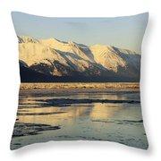 Turnagain Arm And Kenai Mountains Alaska Throw Pillow