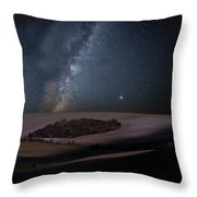 Vibrant Milky Way Composite Image Over Landscape Of Countryside  Throw Pillow
