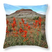 Wildflowers Bloom At Ruby Mountain Throw Pillow by Ray Mathis