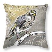 2018 Septembird 16 Myna Bird Throw Pillow