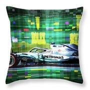 2019 Australian Gp Mercedes Bottas Winner Throw Pillow