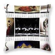 2019 High Resolution R Young Art Dance Calendar - Available Artw Throw Pillow