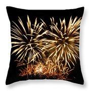 Firework Display Throw Pillow