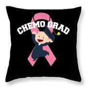 Breast Cancer Awareness Art For Warrior Women Dark Throw Pillow