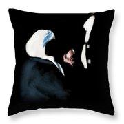22 - Meeting Of Hands Throw Pillow