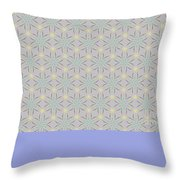 A Repeating Pattern Featuring A Multi-colored Conceptual Flower  Throw Pillow