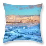 Jokulsarlon - Iceland Throw Pillow