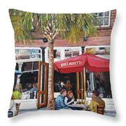 2nd Sunday Lunch On King St. Throw Pillow