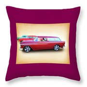 3 - 1955 Chevy's Throw Pillow