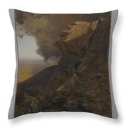 A Cliff In The Katskills Throw Pillow
