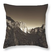 Beautiful Yosemite Valley Throw Pillow