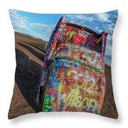 Cadillac Ranch Throw Pillow