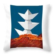 3 Caravels Throw Pillow