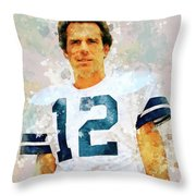 Dallas Cowboys.roger Thomas Staubach. Throw Pillow