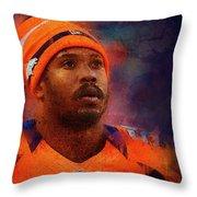 Denver Broncos.von Miller. Throw Pillow