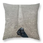 Elevated View Of Racetrack, Death Throw Pillow