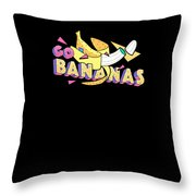 Go Bananas Good Old Times Born In The 90s Retro Rustic Throw Pillow