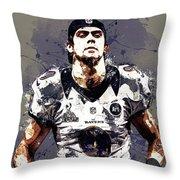 Justin Tucker.baltimore Ravens Throw Pillow