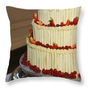 3 Layer Wedding Cake Throw Pillow