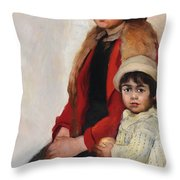 Madre E Figlia Throw Pillow