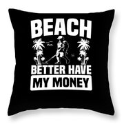 Metal Detector Beach Sweep Beep Dig Apparel Throw Pillow