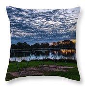 Obear Park Sunset Throw Pillow