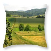Photograph Of A Field In Germany Throw Pillow