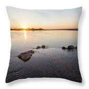 Platte River At Dusk Throw Pillow