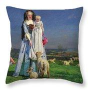 Pretty Baa-lambs Throw Pillow