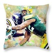 Reggie White. Green Bay Packers. Throw Pillow
