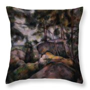 Rocks In The Forest  Throw Pillow