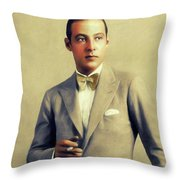Rudolph Valentino, Vintage Actor Throw Pillow