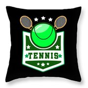 Tennis Player Tennis Racket I Love Tennis Ball Throw Pillow
