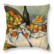 The Basket Of Apples Throw Pillow