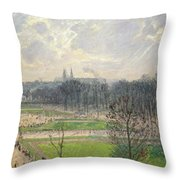 The Garden Of The Tuileries On A Winter Afternoon  Throw Pillow