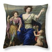 The Marquise De Seignelay And Two Of Her Sons  Throw Pillow