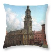 The North Dutch Church  Fulton And William Streets  New York  Throw Pillow