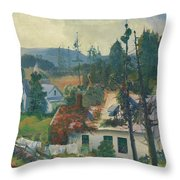 The Red Vine  Matinicus Island  Maine  Throw Pillow