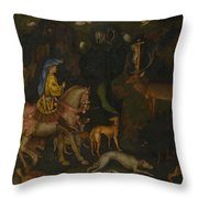 The Vision Of Saint Eustace  Throw Pillow