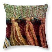 Wool Textile Background Throw Pillow