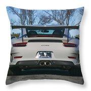 #porsche 911 #gt3rs #print Throw Pillow by ItzKirb Photography
