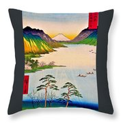36 Views Of Mt.fuji - Shinshu Suwa Lake Throw Pillow