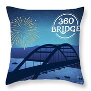 360 Bridge Throw Pillow